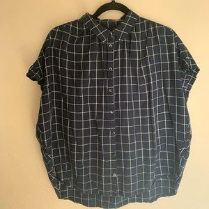 Tops - Madewell Oversized Button Up Checkered Blouse